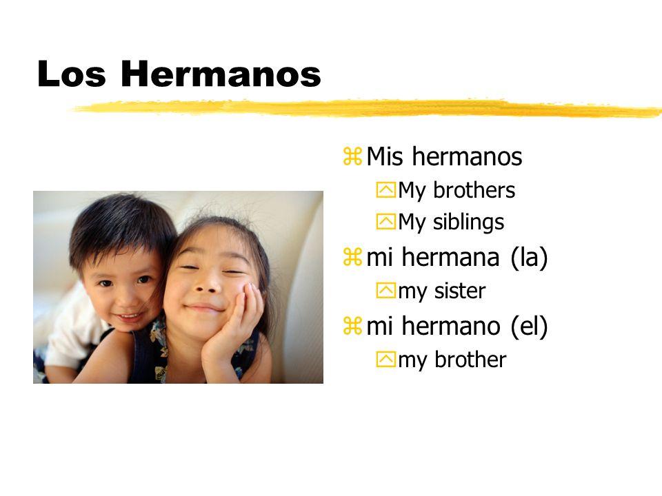 Los Hermanos z Mis hermanos yMy brothers yMy siblings z mi hermana (la) ymy sister z mi hermano (el) ymy brother
