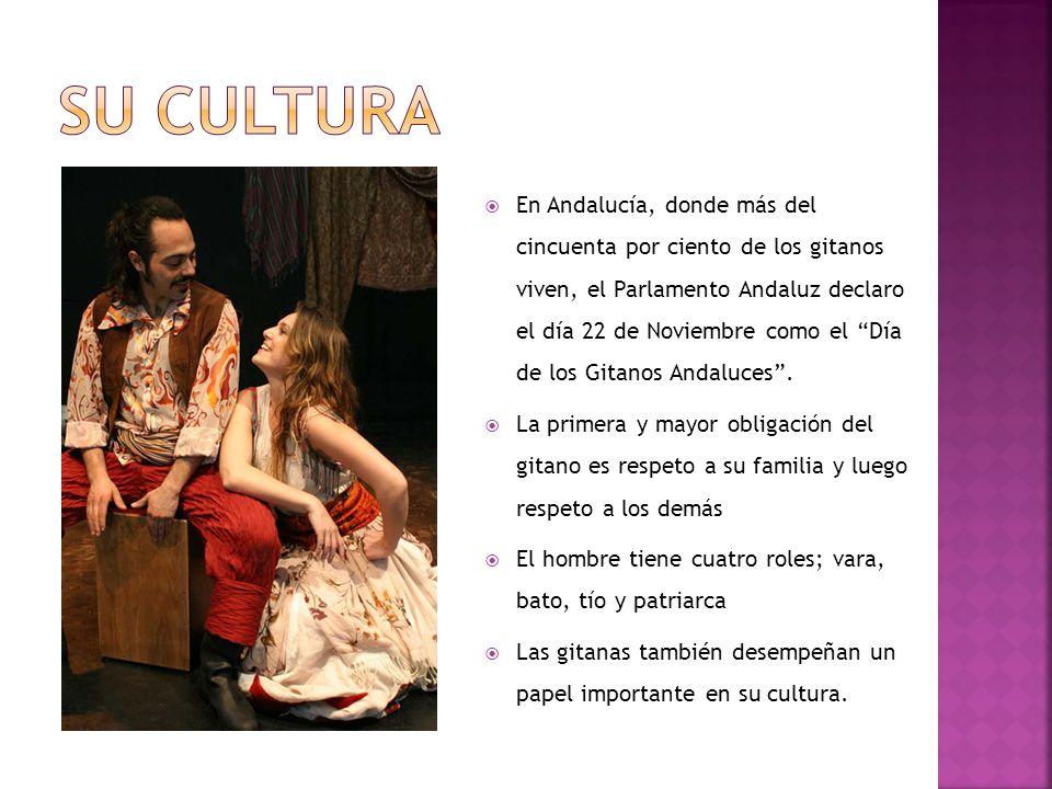 En Andalucía, donde más del cincuenta por ciento de los gitanos viven, el Parlamento Andaluz declaro el día 22 de Noviembre como el Día de los Gitanos