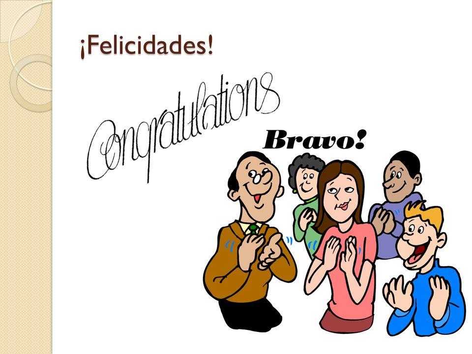 ¡Felicidades!