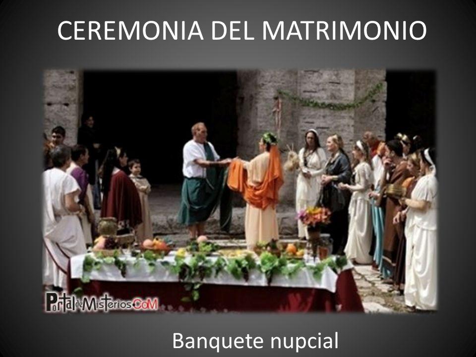 CEREMONIA DEL MATRIMONIO Banquete nupcial