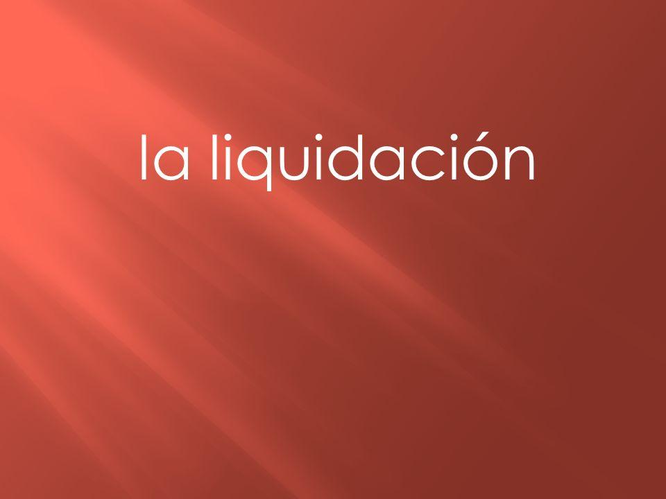 la liquidación