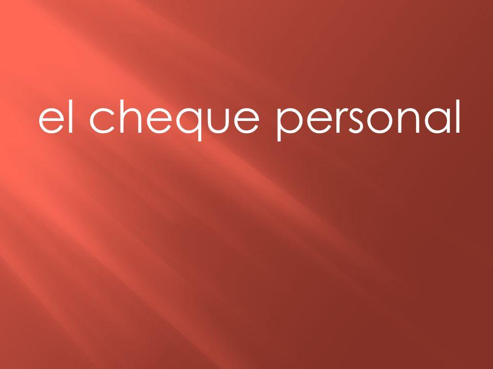 el cheque personal