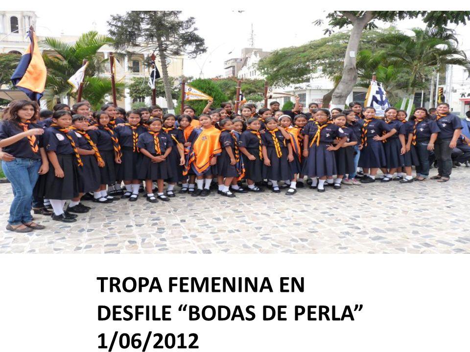 TROPA FEMENINA EN DESFILE BODAS DE PERLA 1/06/2012