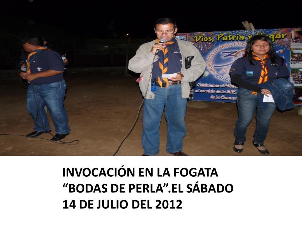 INVOCACIÓN EN LA FOGATA BODAS DE PERLA.EL SÁBADO 14 DE JULIO DEL 2012
