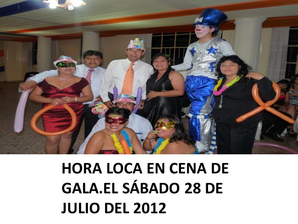 HORA LOCA EN CENA DE GALA.EL SÁBADO 28 DE JULIO DEL 2012