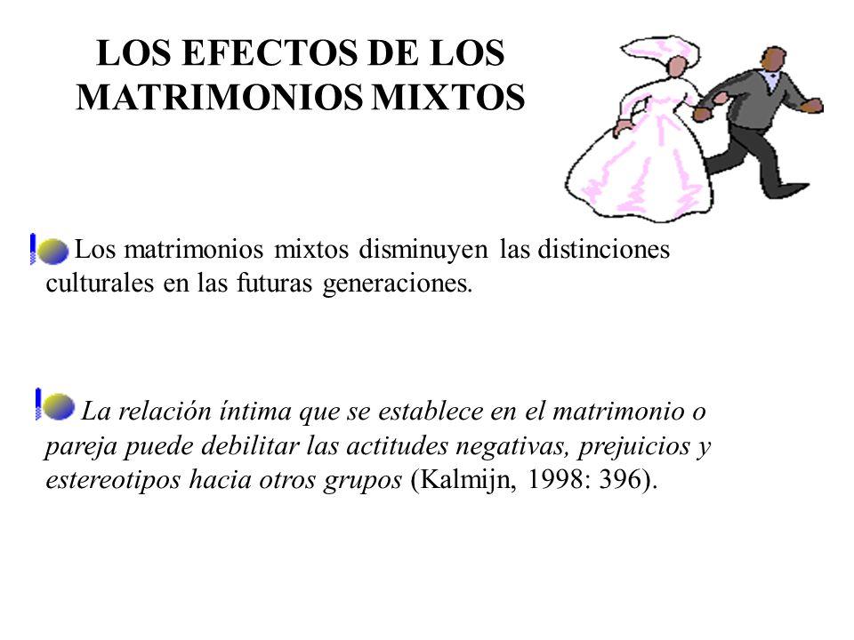 CONSIDERACIONES TEÓRICAS SOBRE LAS UNIONES MIXTAS LOS PATRONES EN LA ELECCIÓN DEL CÓNYUGE Para Dan Rodríguez (2004b: 27), el proceso de elección del c