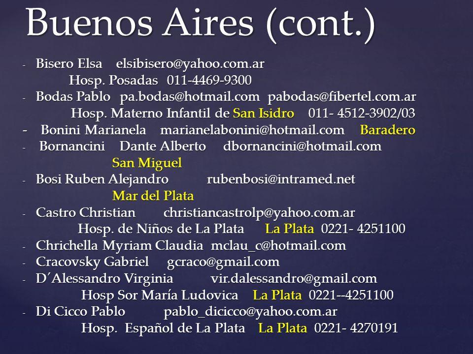 - Bisero Elsaelsibisero@yahoo.com.ar Hosp.