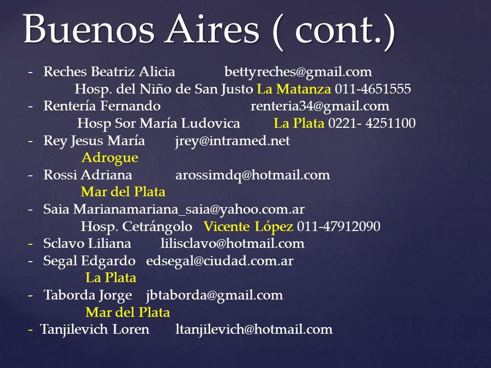 -Reches Beatriz Aliciabettyreches@gmail.com Hosp.