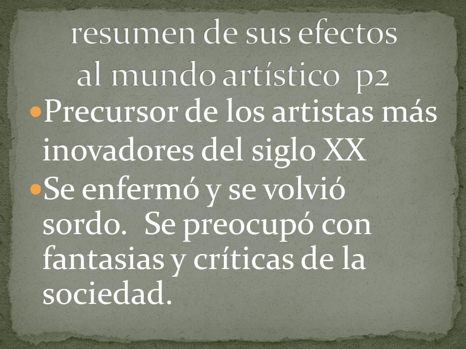 A veces Goya pintó un serie de dibujos como un cuento.