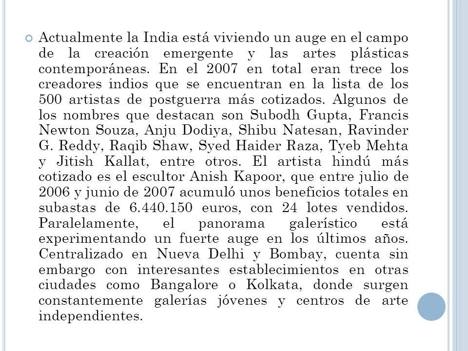 G RUPO DE LOS ARTISTAS PROGRESISTAS El Grupo de los artistas progresistas era el grupo más influyente de los artistas modernos en la India desde su formación en 1947, combinaron tema indígena con los colores post-impresionista, estilos expresionistas, cubista y brusca formas.