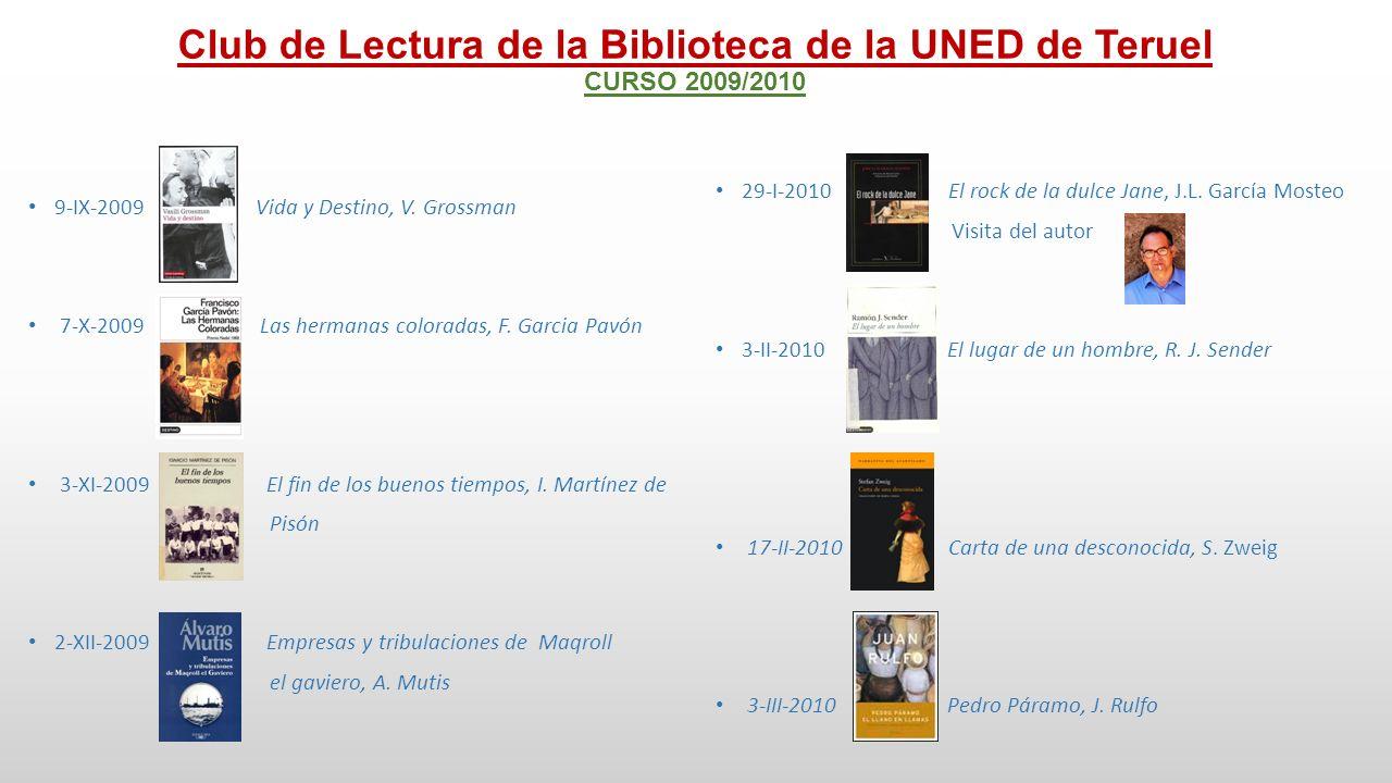 Club de Lectura de la Biblioteca de la UNED de Teruel CURSO 2009/2010 14-IV-2010 El café de Qushtumar, N.