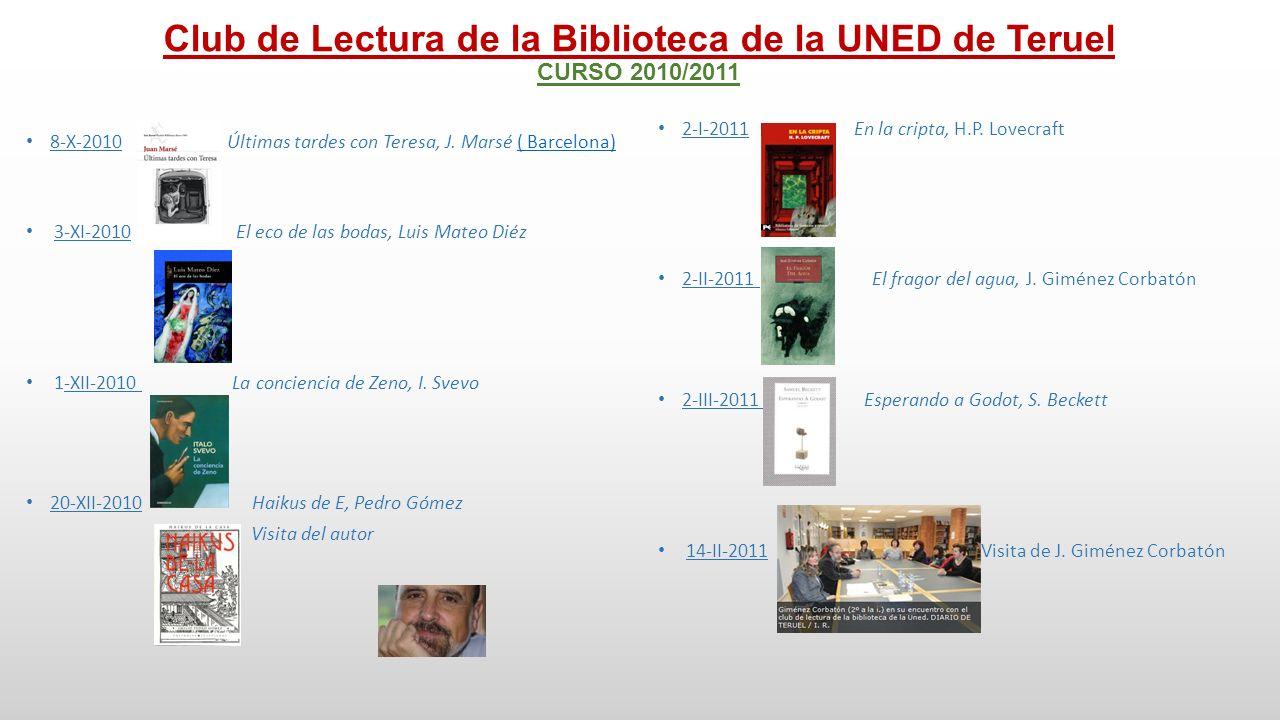 Club de Lectura de la Biblioteca de la UNED de Teruel CURSO 2010/2011 4-IV-2011 Crematorio, R.