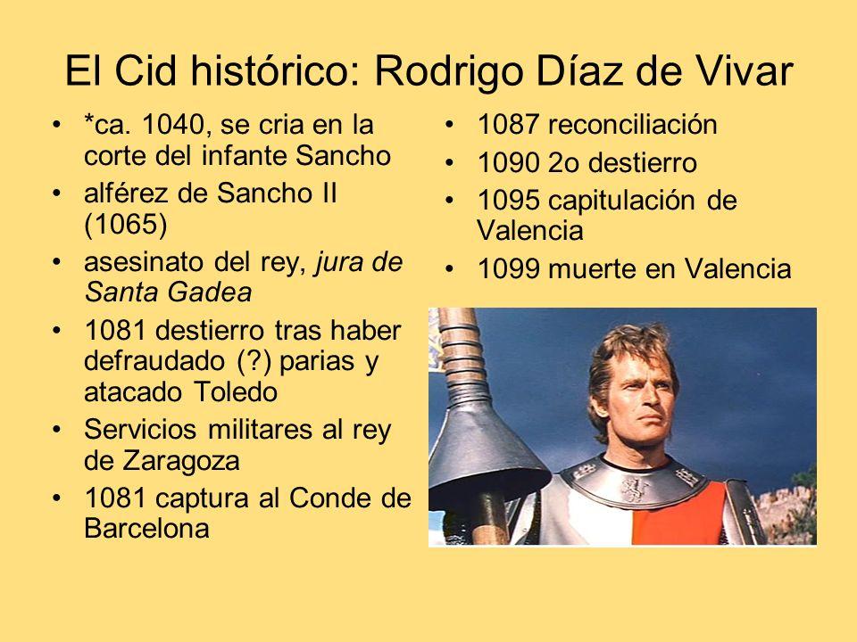 El Cid histórico: Rodrigo Díaz de Vivar *ca.