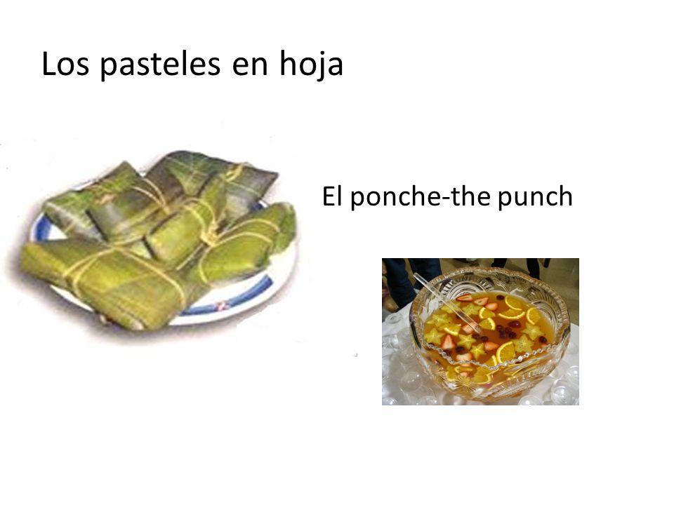 Los pasteles en hoja El ponche-the punch