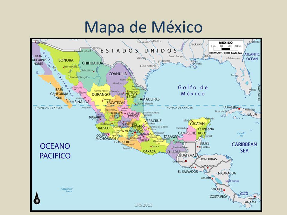 Mapa de México CRS 2013