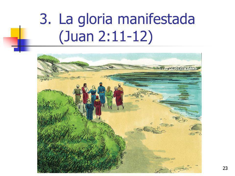 23 3.La gloria manifestada (Juan 2:11-12)