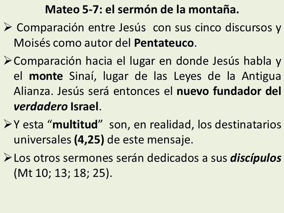 Mateo 5-7: el sermón de la montaña.
