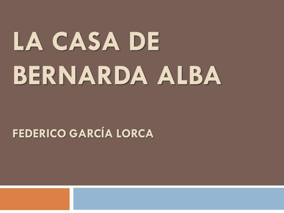 Federico Garcia Lorca Nació en 1898 en Granada, España Se movió a los EEUU en 1932 Poeta, director, dramaturgo Murió en 1932 Otras obras Bodas de Sangre Yerma Arte buena depende en una consciencia viva de la muerte, una conexión de la tierra de nación, y el reconocimiento de razón.