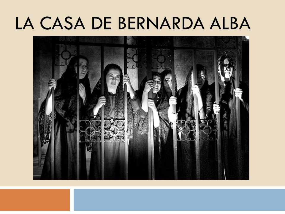 Ambiente El sur de España Habitación blanquísima del interior de la casa Bernarda Verano Tono: serio, grave, lleno de tensión