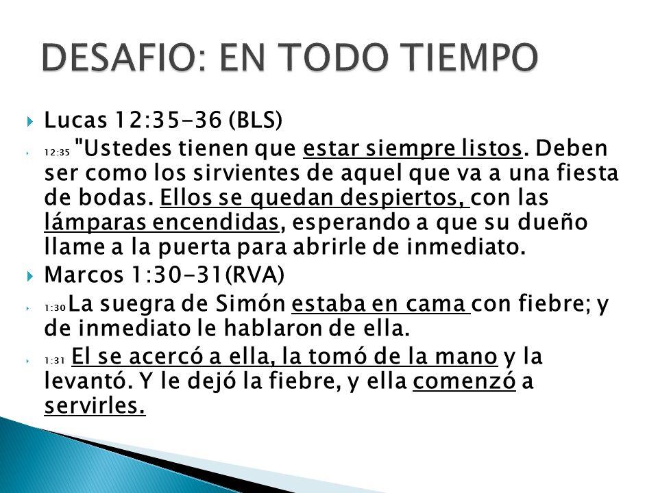 Lucas 12:35-36 (BLS) 12:35