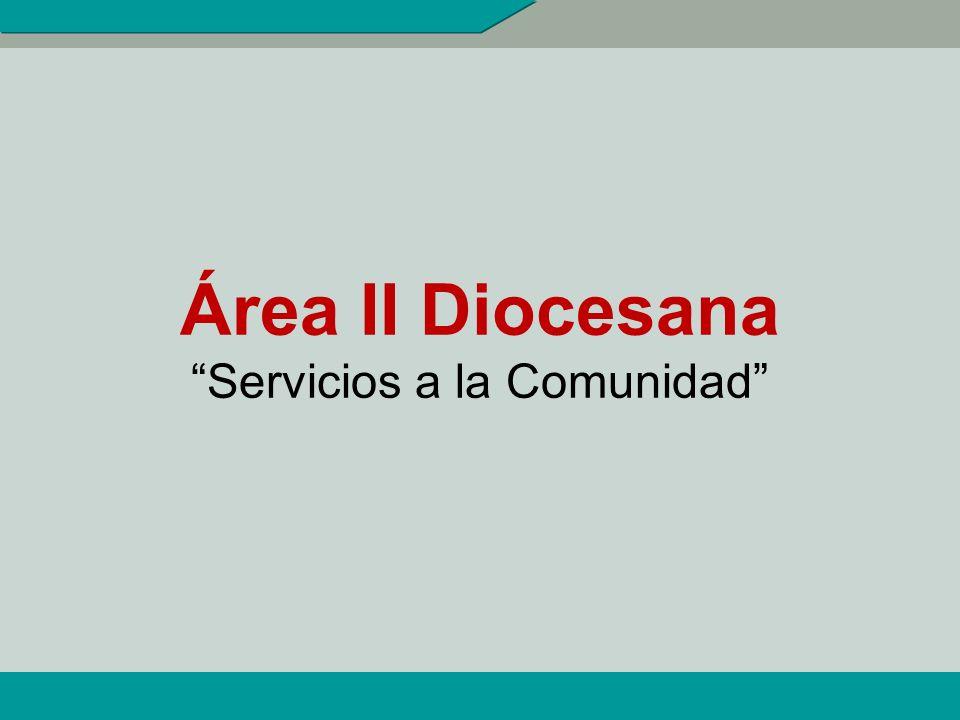 INDICADORES DE ÁREA II 1.- % de matrimonios capacitados que prestan servicios institucionales en la Diócesis.