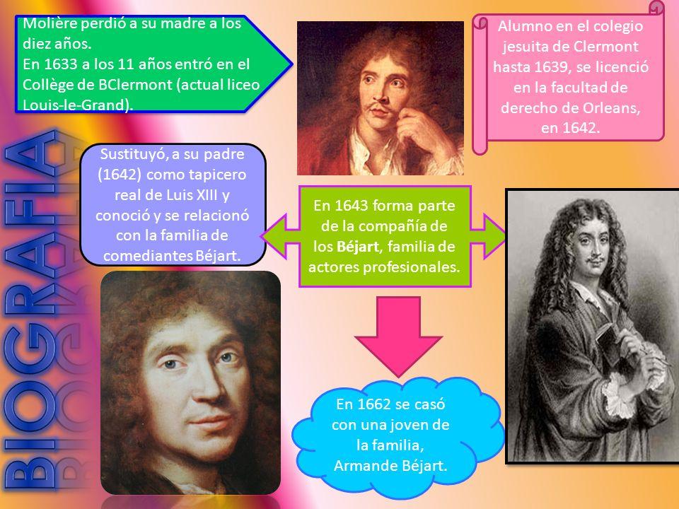 Molière perdió a su madre a los diez años.