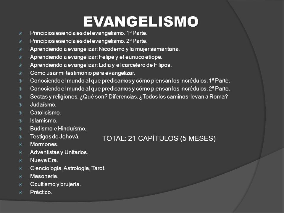 EVANGELISMO Principios esenciales del evangelismo.