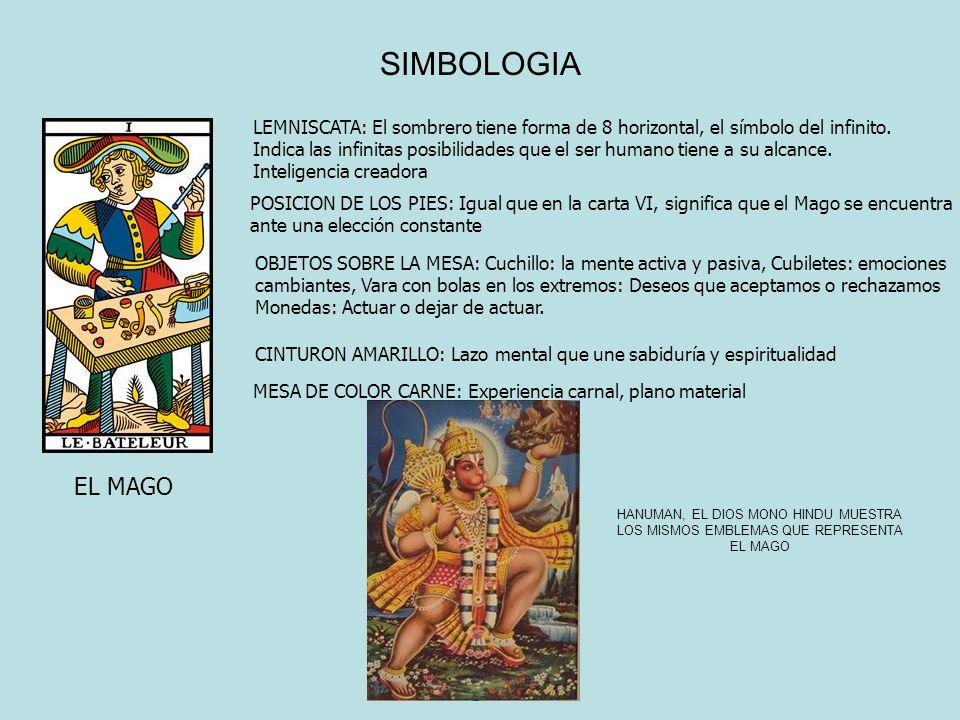 SIMBOLOGIA EL MAGO LEMNISCATA: El sombrero tiene forma de 8 horizontal, el símbolo del infinito. Indica las infinitas posibilidades que el ser humano