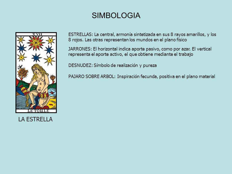 SIMBOLOGIA LA ESTRELLA ESTRELLAS: La central, armonía sintetizada en sus 8 rayos amarillos, y los 8 rojos. Las otras representan los mundos en el plan