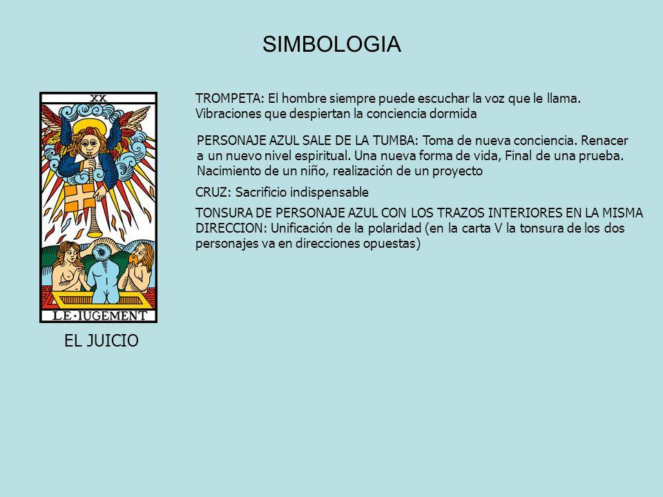 SIMBOLOGIA EL JUICIO TROMPETA: El hombre siempre puede escuchar la voz que le llama. Vibraciones que despiertan la conciencia dormida PERSONAJE AZUL S
