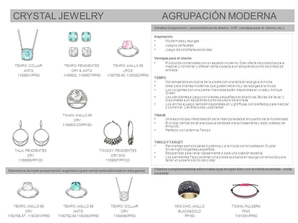 Elementos de triple presentación sugeridos (para venta/venta adicional en esta gama) Objetos complementarios adicionales (que encajan bien con la ofer