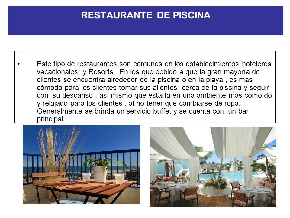 SERVICIO DE BUFFET En determinados restaurantes se proporciona el servicio de buffet como una manera rápida y fácil de servir a gran cantidad de perso