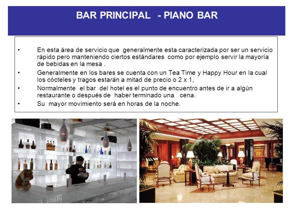 RESTAURANTE DE PISCINA Este tipo de restaurantes son comunes en los establecimientos hoteleros vacacionales y Resorts. En los que debido a que la gran