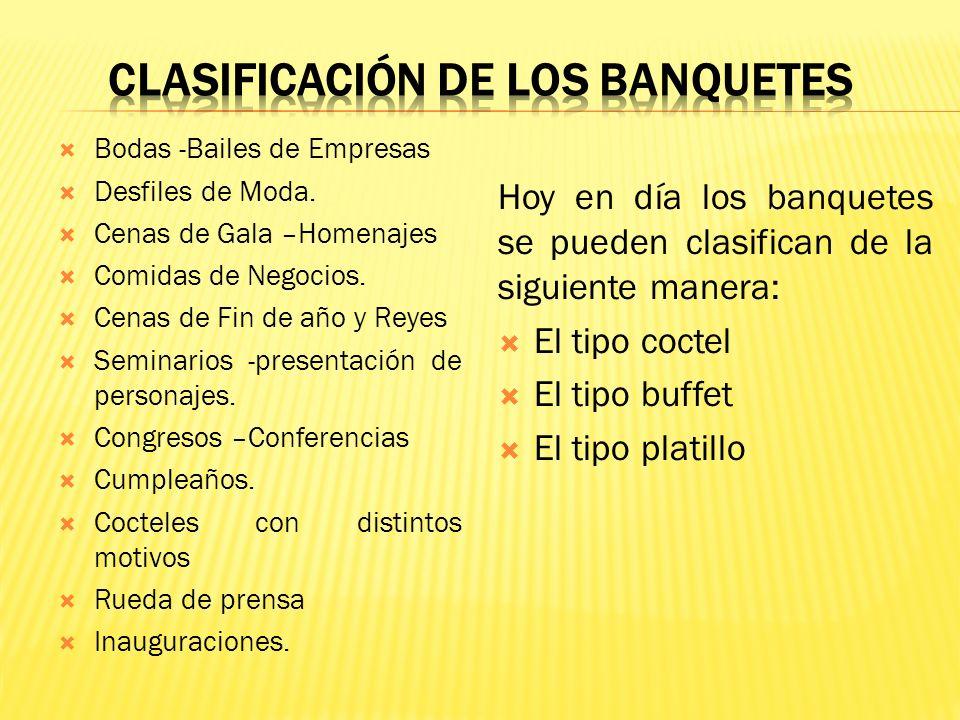 BANQUETES Un Banquete es una comida espléndida a la concurren muchas personas para celebrar algún acontecimiento especial, como una visita oficial, un
