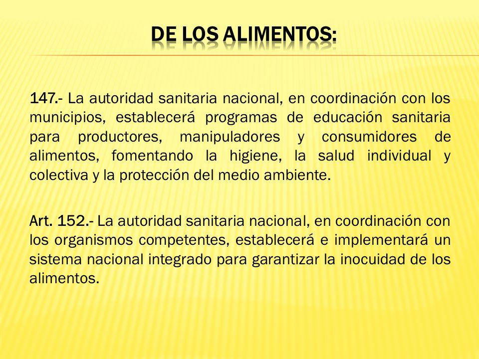LEY ORGANICA DE SALUD. LEY 67, REGISTRO OFICIAL SUPLEMENTO 423 DE 22 DE DICIEMBRE DEL 2006. Responsabilidades: Art. 18.- Regular y realizar el control