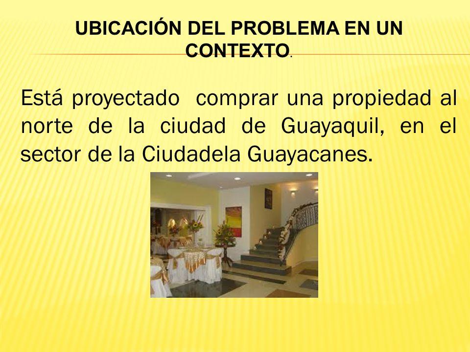 Está proyectado comprar una propiedad al norte de la ciudad de Guayaquil, en el sector de la Ciudadela Guayacanes.