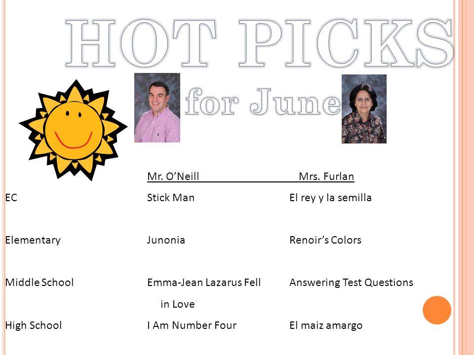 Mr. ONeill Mrs. Furlan EC Stick ManEl rey y la semilla Elementary JunoniaRenoirs Colors Middle School Emma-Jean Lazarus FellAnswering Test Questions i