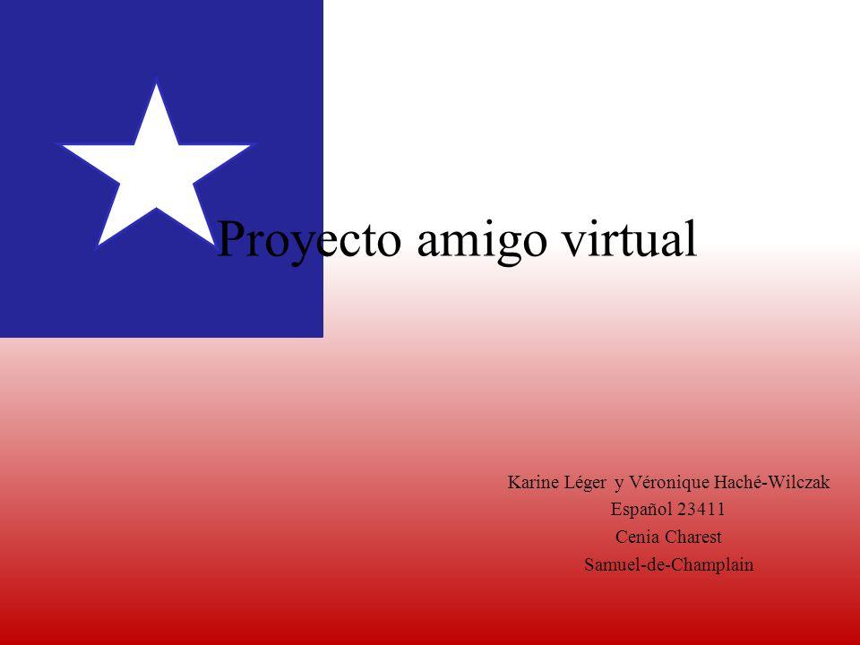 Proyecto amigo virtual Karine Léger y Véronique Haché-Wilczak Español 23411 Cenia Charest Samuel-de-Champlain