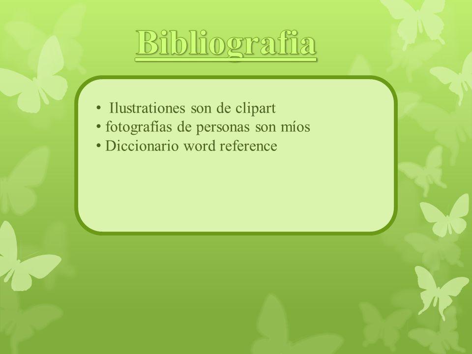 Ilustrationes son de clipart fotografías de personas son míos Diccionario word reference