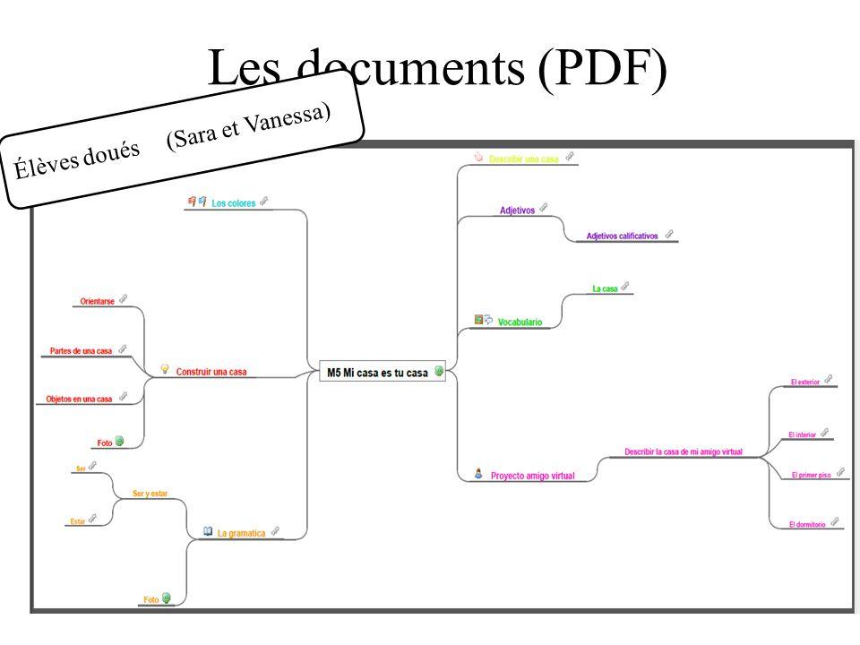 Les documents (PDF) Élèves doués (Sara et Vanessa)