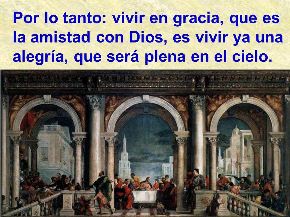 El Reino de los cielos es algo muy hermoso y alegre. La primera idea que nos dice hoy Jesús es: