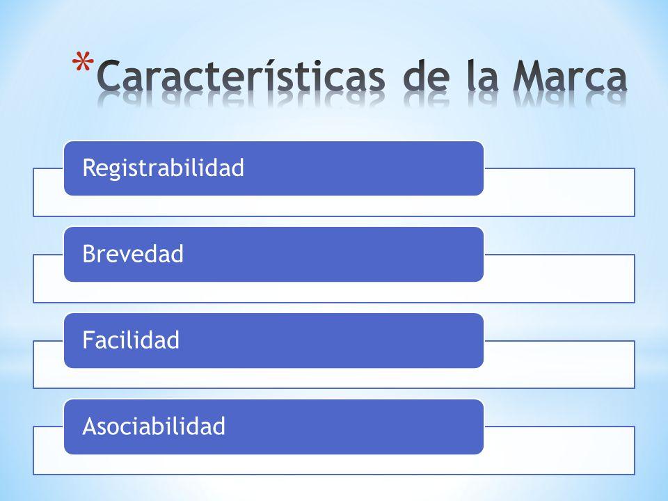 RegistrabilidadBrevedadFacilidadAsociabilidad