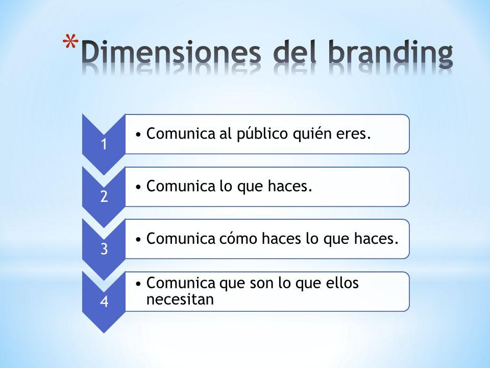 1 Comunica al público quién eres. 2 Comunica lo que haces. 3 Comunica cómo haces lo que haces. 4 Comunica que son lo que ellos necesitan