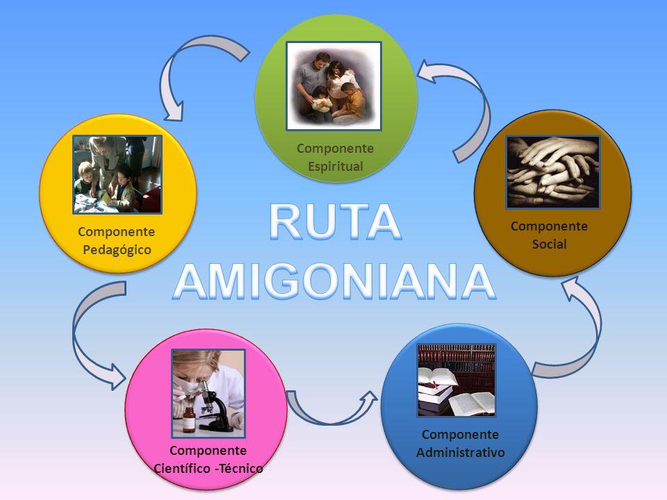 Componente Espiritual Componente Pedagógico Componente Social Componente Científico -Técnico Componente Administrativo