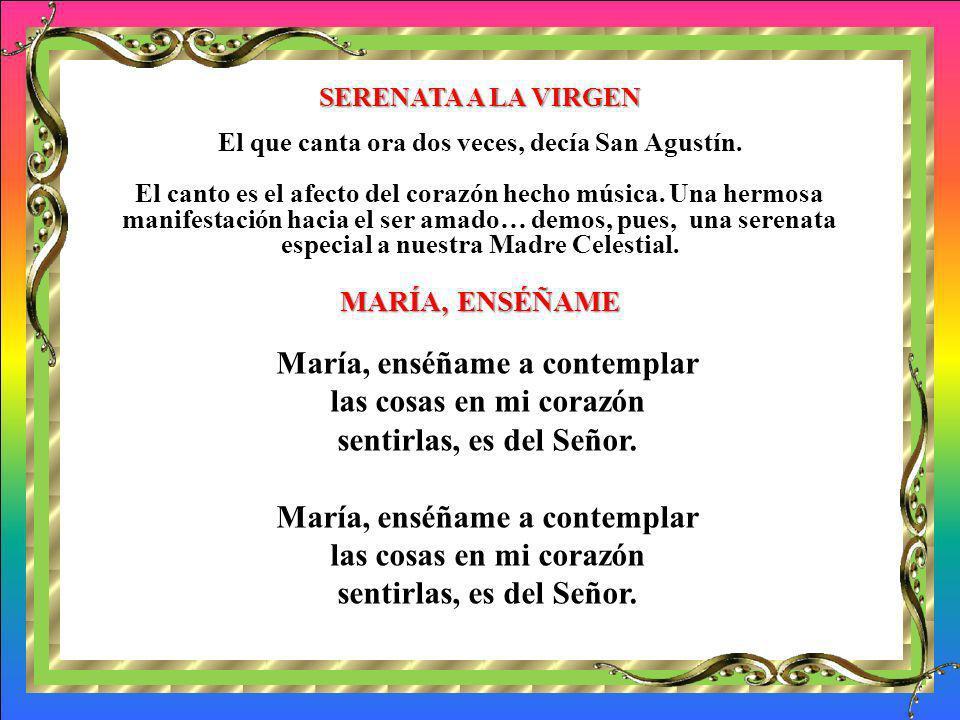MÁS PIROPOS A MARÍA: Letanía de la alegría Contestamos: Ruega por nosotros Santa María causa de nuestra alegría. Santa María Virgen de la esperanza. S