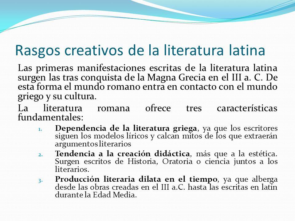 La poesía épica latina Orígenes: El primer poema épico que aparece en la literatura latina no es de creación original.