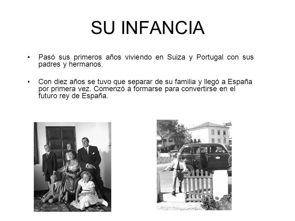 SU INFANCIA Pasó sus primeros años viviendo en Suiza y Portugal con sus padres y hermanos. Con diez años se tuvo que separar de su familia y llegó a E