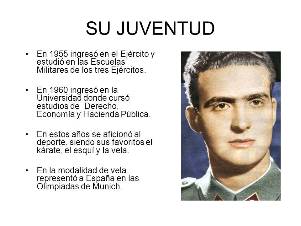 SU JUVENTUD En 1955 ingresó en el Ejército y estudió en las Escuelas Militares de los tres Ejércitos. En 1960 ingresó en la Universidad donde cursó es