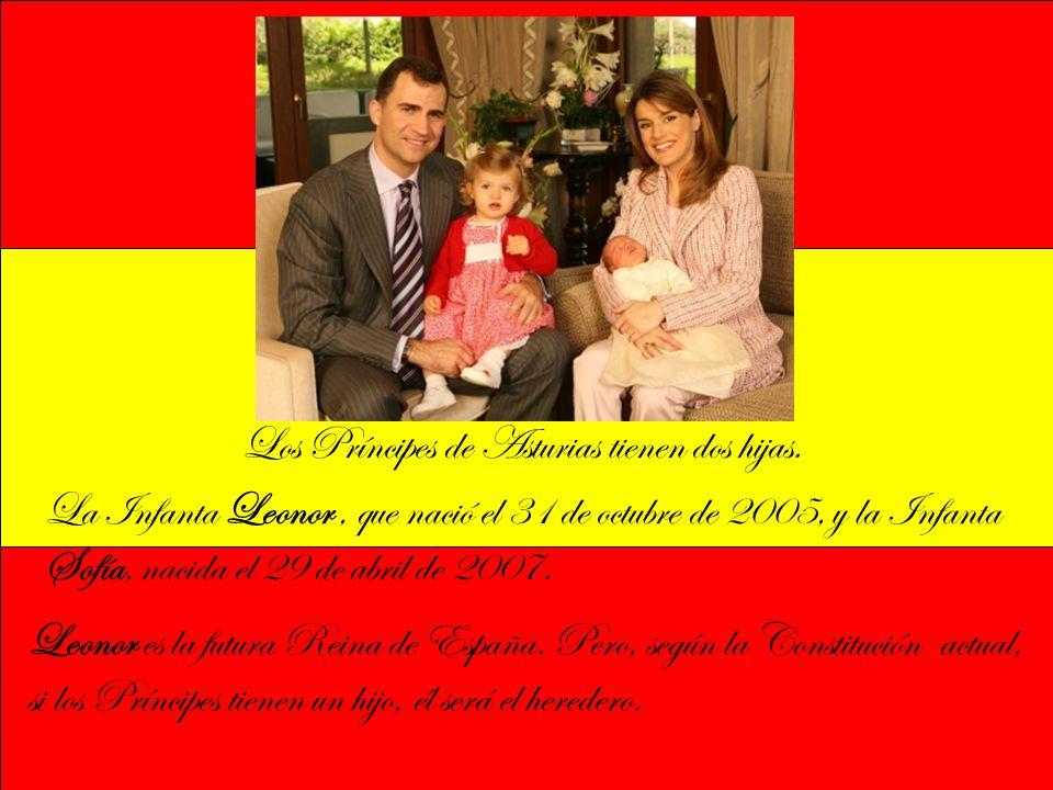La Infanta Leonor, que nació el 31 de octubre de 2005, y la Infanta Sofía, nacida el 29 de abril de 2007.
