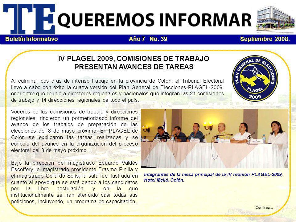 Boletín Informativo Año 7 No.39 Septiembre 2008.